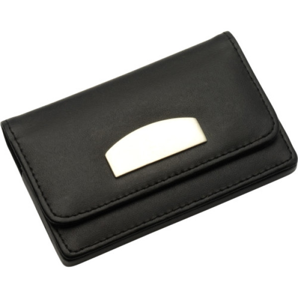 Bonded leather business card holder