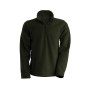 Enzo - fleece met ritskraag green olive 3xl