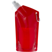Cabo 600 ml waterzak - Transparant rood