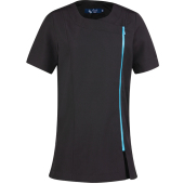 'camellia' beauty & spa tunic black / turquoise l (14 uk)