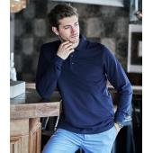 Luxury Stretch Long Sleeve Polo Shirt