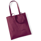 Bag for life - long handles burgundy one size
