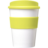 Americano® medio 300 ml beker met grip - Wit/Lime
