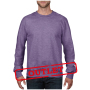 Anvil Sweater Crewneck French Terry for him Heather Purple-35% Korting XXL