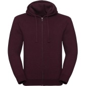 Authentic full zip hooded melange sweatshirt burgundy melange s