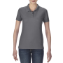 Gildan Polo Performance Double Pique SS for her Charcoal S