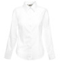 Lady-fit long sleeve oxford shirt (65-002-0) white s