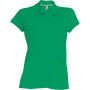 Damespolo korte mouwen kelly green xl
