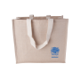 Canvas shopper met geweven hengsels 240 gr/m2