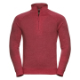 Adults HD 1/4 Zip Sweat, Red Marl, XXL, RUS
