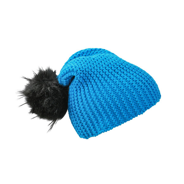 Casual beanie met extra grote pompon