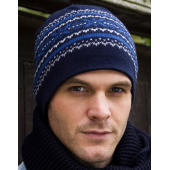 Aspen Knitted Hat - White/Grey/China Blue/Navy