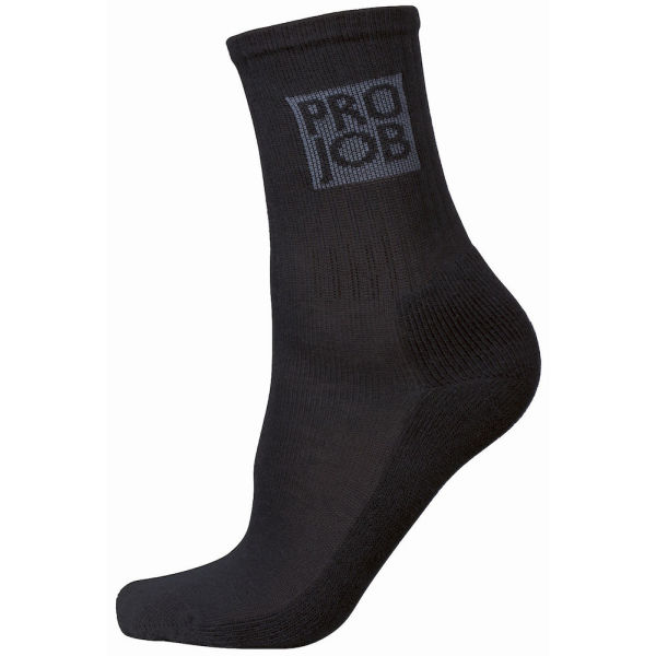 9012 HALF TERRY SOCK 7-PCS BLACK 46-48