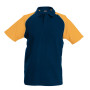 Baseballpolo navy / orange l