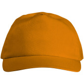 Basic cotton 5 panel cap - Oranje