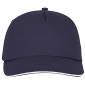 Styx 5 panel sandwich cap - Navy