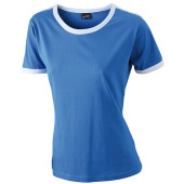 Ladies` Flag-T - royal/wit