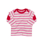 Baby Stripy Long Sleeve T 6-12 Monate Bubble Gum Pink/Washed White/Red