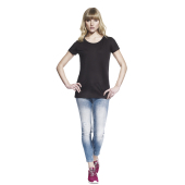 WOMEN'S BAMBOO OPEN NECK T-SHIRT