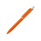 Balpen Click Shadow soft-touch oranje