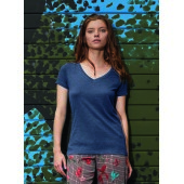 Triblend V-neck T-shirt women