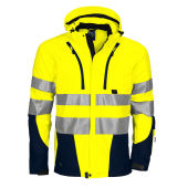 PROJOB 6419 SHELL JACKET HV BLUE/YELLOW 3XL