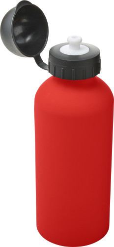 Aluminium waterfles (600 ml) rood