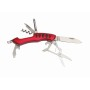 7 delig RVS multitool SMALL R. - rood, zilver