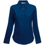 Lady-fit long sleeve oxford shirt (65-002-0) navy xl
