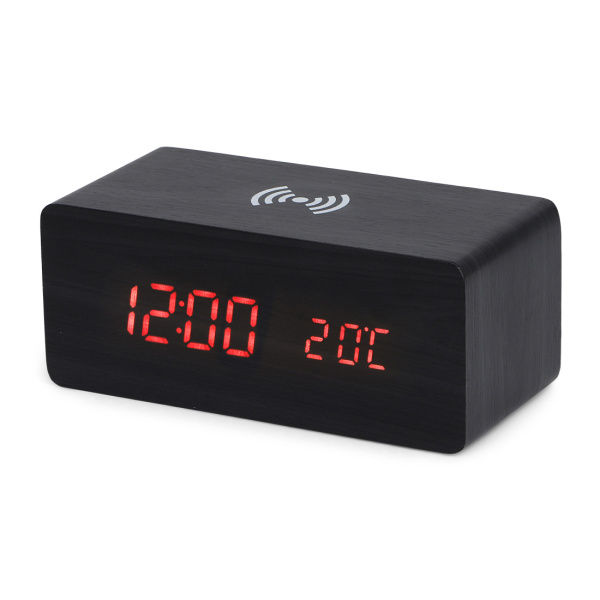 BRAINZ Clock Wireless Charger Black