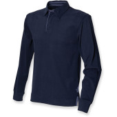 Supersoft long sleeved rugby shirt navy xl