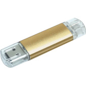 Aluminium On-the-Go (OTG) USB-stick - Goud - 32 GB