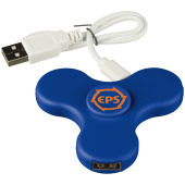 Spin-it Widget USB Hub - koningsblauw