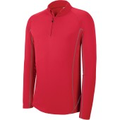 Herenrunningsweater met halsrits sporty red s