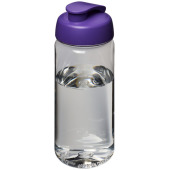 H2O Octave Tritan™ 600 ml sportfles met flipcapdeksel - Transparant,Paars