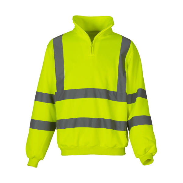 Fluo 1/4 Zip Sweat Shirt