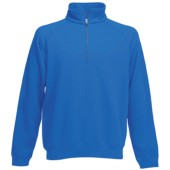 Premium zip neck sweat (62-032-0) royal blue s