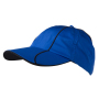 6 Panel Polyester Cap nautic-blauw/navy