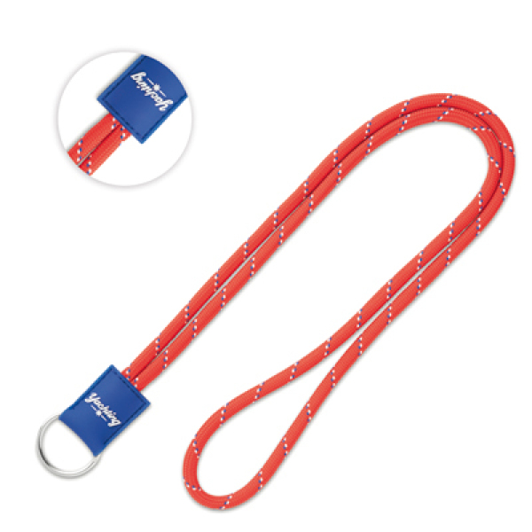 Round lanyard with pvc badge