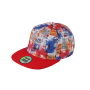 6 Panel Crown Printed Pro Cap stad/rood