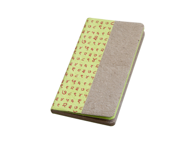 Notebooks small made from elephant poo- set of 2 pieces