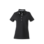 Ladies' Plain Polo zwart/zwart-wit