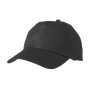 5 Panel Promo Cap Lightly Laminated zwart
