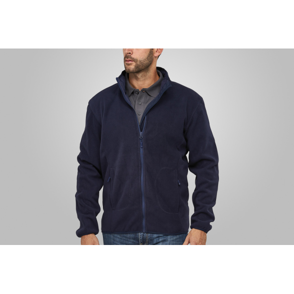 Macseis Soft Fleece Cardigan for him Blue Navy