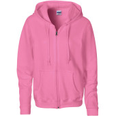 Heavy blend™ semi-fitted ladies' full zip hooded sweatshirt