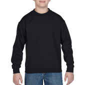 Gildan Sweater Crewneck HeavyBlend for kids Black XS