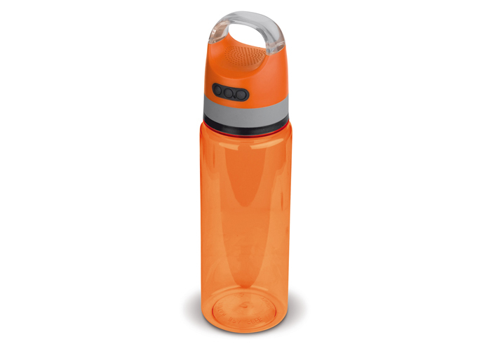 Drinkfles 2-in-1 speaker 730ml oranje