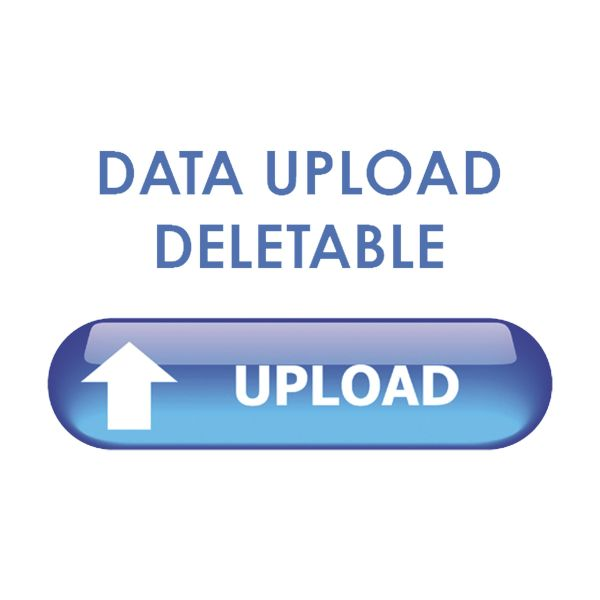 Data upload deletable