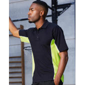 Classic Fit Track Polo - Navy/Mid Yellow/White