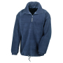 1/4 Zip Fully Lined Fleece Top L Navy